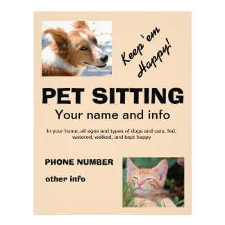 pet sitting flyers zazzle   au