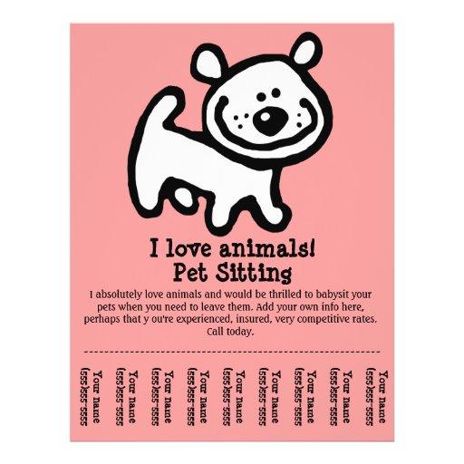 Pet Sitting, Dog Grooming, Walking, Training flyer   Zazzle