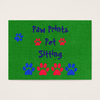 Pet Sitting Pet Care Themed Business Card
