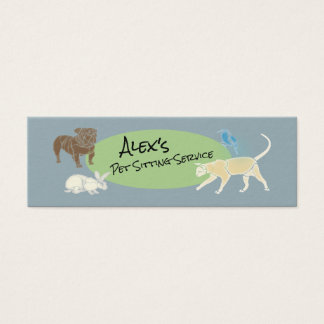 Pet Sitting Service - Animal Friends Mini Business Card
