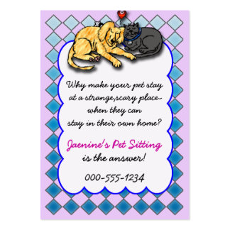 pet sitting service business card templates