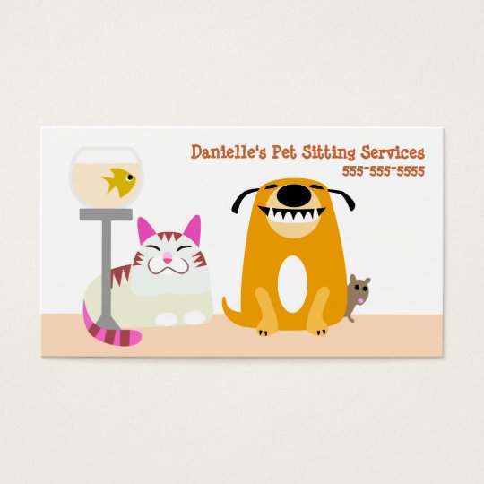 pet sitting services business card zazzle   au