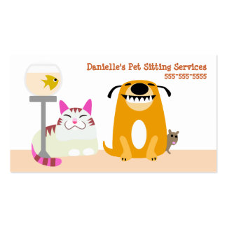 Pet Sitting Services Pack Of Standard Business Cards