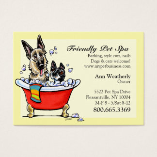 Pet Spa Grooming Boutique Happy Fancy Business Card