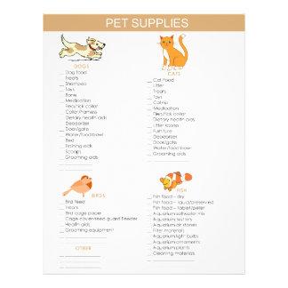 Pet Supplies Shopping list for dogs, cats, birds Flyer