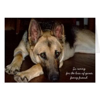Pet sympathy card German Shepherd Rescue