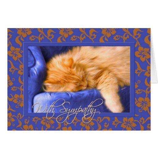 Pet Sympathy Loss of a Cat Greeting Card