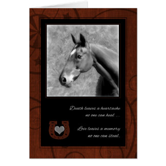 Pet Sympathy Loss of a Horse _ Western Brown Greeting Card