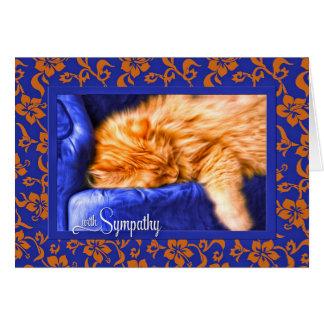 Pet Sympathy - Orange Tabby Cat with Blue Card