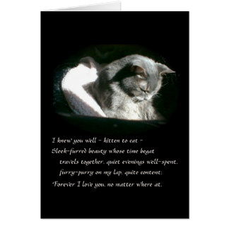 Pet Sympathy Sad Gray Kitty Cat - Cassie Greeting Card