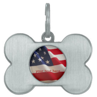 pet tag flag of freedom