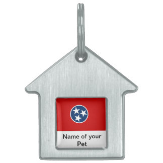 Pet Tag with Flag of Tennessee State