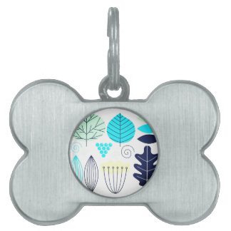 Pet tag with Folk flowers