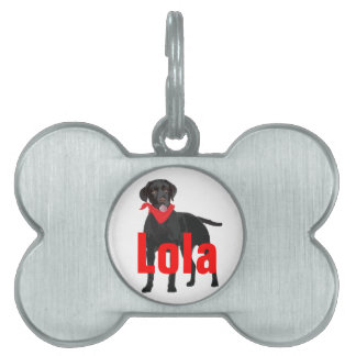 Pet Tag with Labrador Retriever
