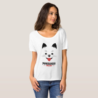 Pet Tee Shirt - Pomeranian Dog