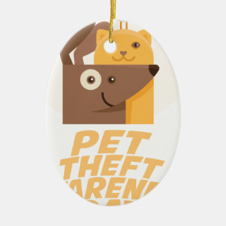 Pet Theft Awareness Day - 14th February Ceramic Ornament