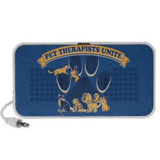 Pet Therapists Unite logo promoting all pets Mp3 Speakers