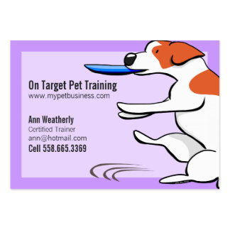 Pet Training Dog Trainer Jack Russell Terrier Pack Of Chubby Business Cards