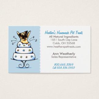 Pet Treats Bakery n Parties Pug Baby Blue Business Card