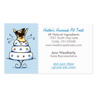Pet Treats Bakery n Parties Pug Baby Blue Pack Of Standard Business Cards
