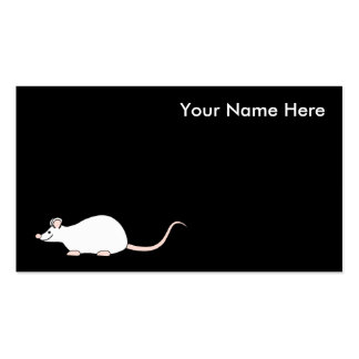 Pet White Mouse. Pack Of Standard Business Cards