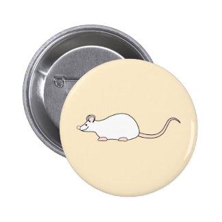 Pet White Mouse Pins
