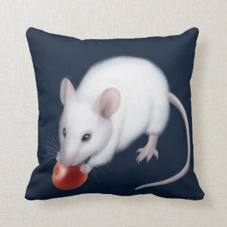 Pet White Mouse with Cherry Pillow Cushions