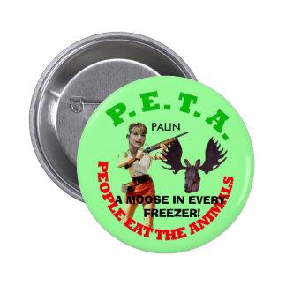 PETA, gray circle, young gun white... - Customized 6 Cm Round Badge