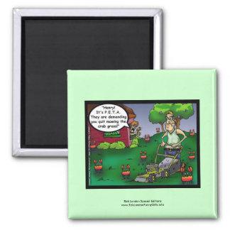 PETA & The Crabgrass Cartoon Funny Magnet Magnets