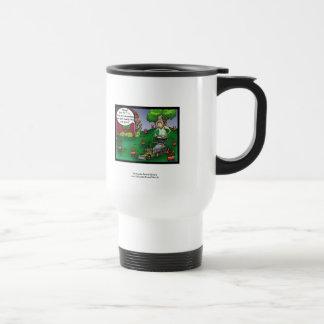 PETA & The Crabgrass Cartoon Funny Travel Mug Coffee Mug