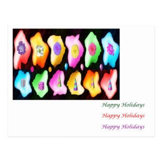 Petal Eye Popping Art - HappyBirthday HappyHoliday Postcard