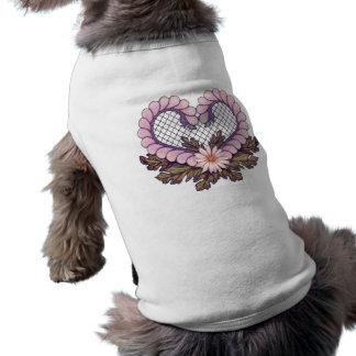 Petal Mesh Heart Pink Shirt