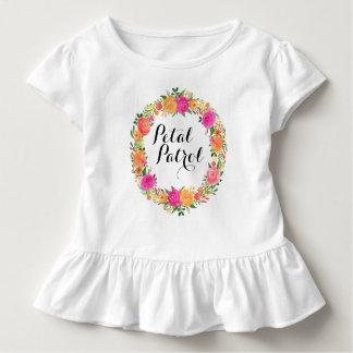 Petal Patrol Toddler Ruffle Tee Flower Girl Shirt