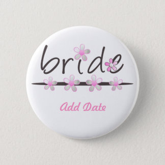 Petal Pink Bridal Gifts 6 Cm Round Badge