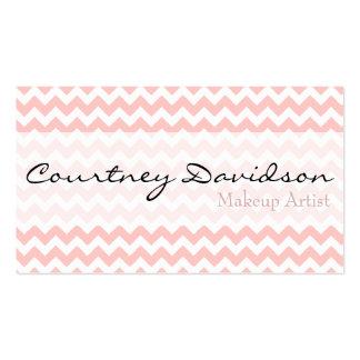 Petal Pink Chevron Business Cards