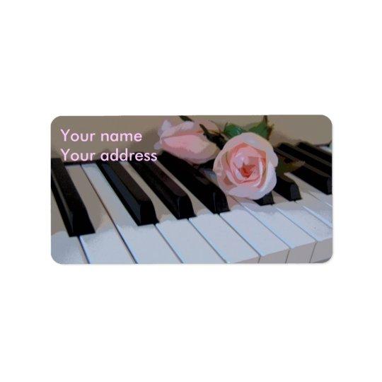 Petal Pink Keys Label