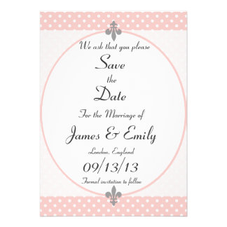 Petal Polka Dots Save The Date Announcement