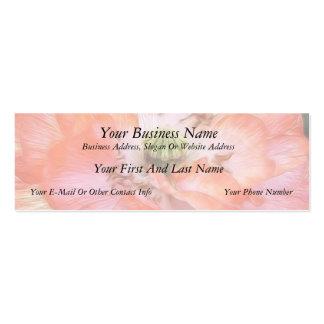Petal Power - Ruffled Poppy Business Card Template