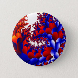 Petal With A Twist 6 Cm Round Badge