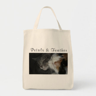 Petals and Feather tote bag