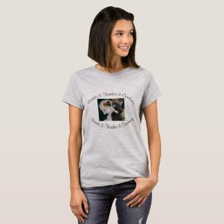 Petals & Feather & Corduroy t-shirt