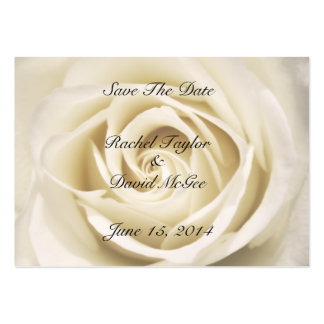 Petals Of Love, White, Save The Date Cards Business Cards