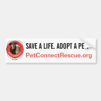 PetConnect Rescue Bumper Sticker