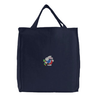 Peter Cottontail Embroidered Tote Bag