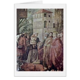 Peter Distributed Alms To The Village By Masaccio Card