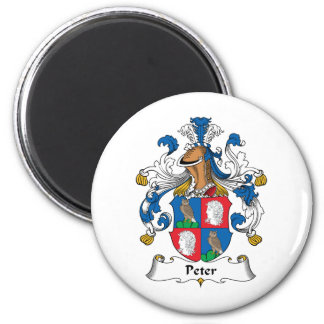 Peter Family Crest 6 Cm Round Magnet