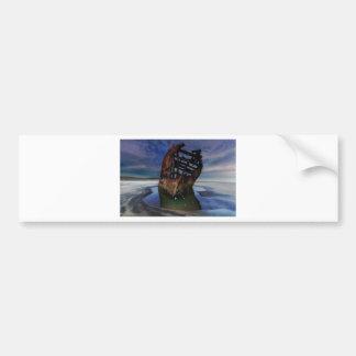 Peter Iredale Shipwreck Under Starry Night Sky Bumper Sticker