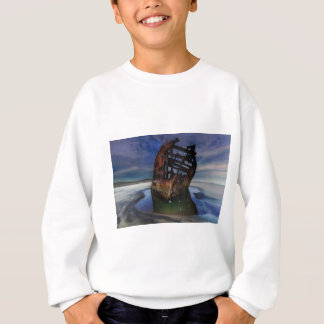 Peter Iredale Shipwreck Under Starry Night Sky Sweatshirt