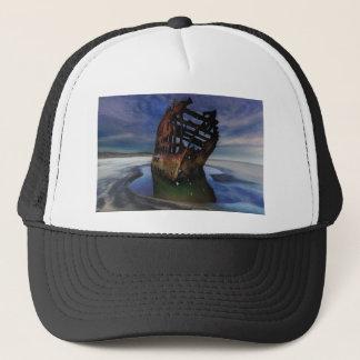 Peter Iredale Shipwreck Under Starry Night Sky Trucker Hat