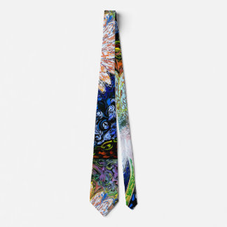 peter max art style abstract art tie